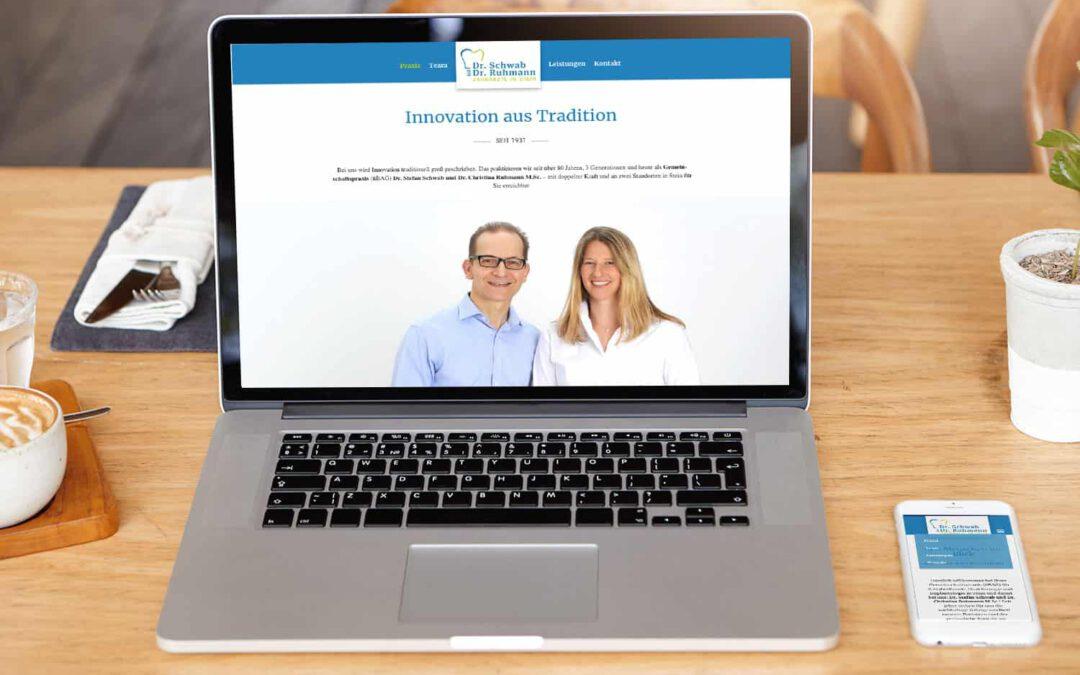 Website für eine Zahnarztpraxis
